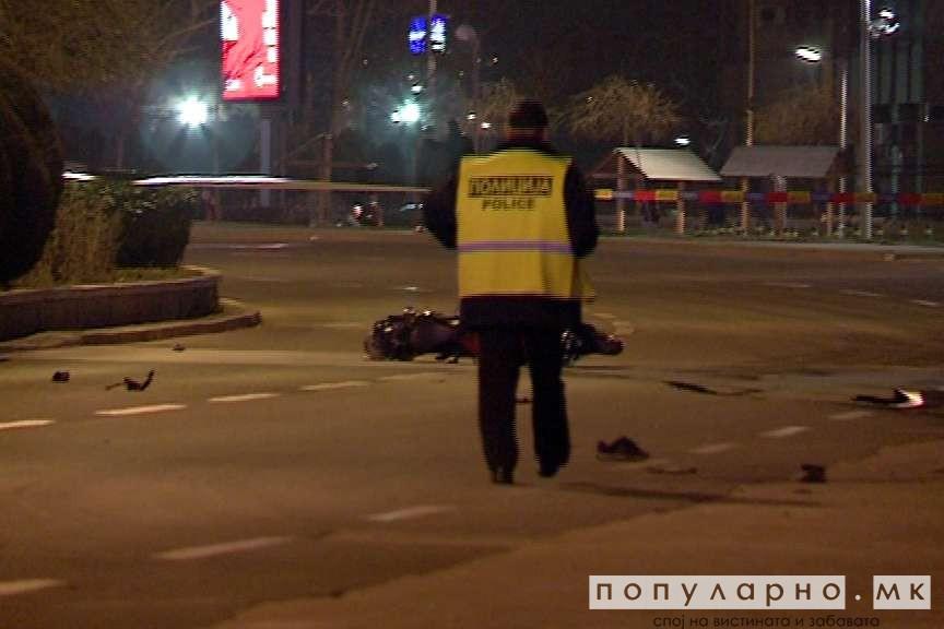 ФОТО: Сообраќајна несреќа кај Олимписки базен - пешак усмртен од моторцикл
