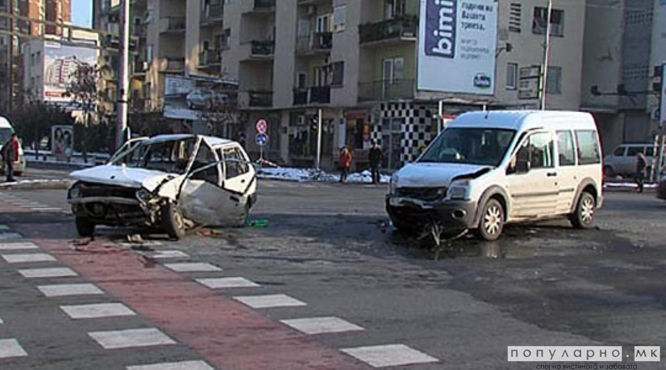 Во Скопје 10 сообраќајки, казнети 41 возач и 23 пешаци