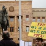 """ФОТОГАЛЕРИЈА: Средношколците со """"жолт картон"""" за МОН"""