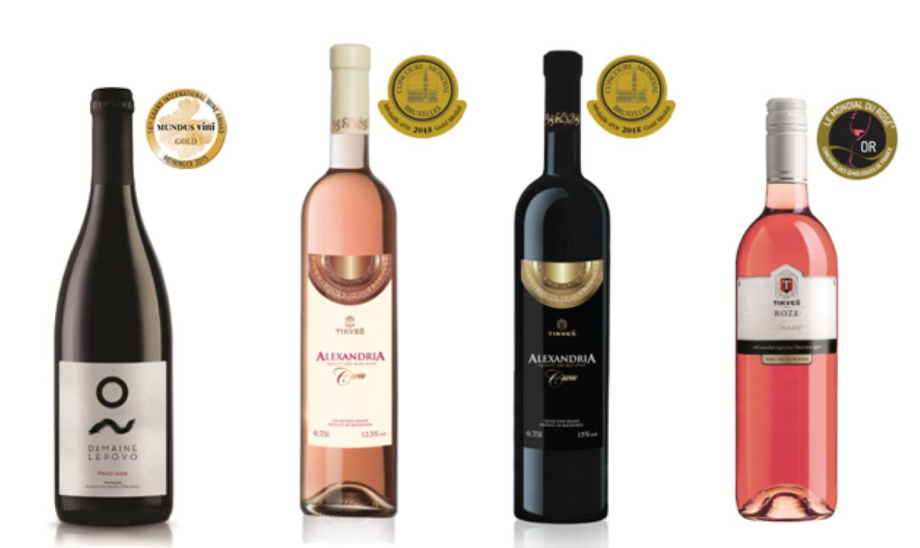 """Врвните вина на """"Тиквеш"""" со 34 награди на најпознатите светски вински натпревари"""