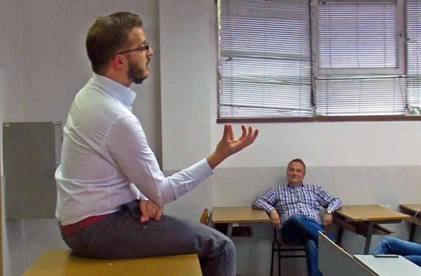 """ФОТО: Огнен Јаневски дел од проектот за изучување на """"меките вештини"""" на ФИНКИ"""