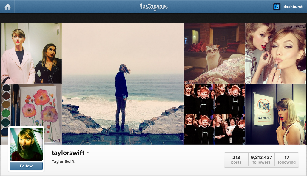 Тејлор Свифт е новата Инстаграм кралица!