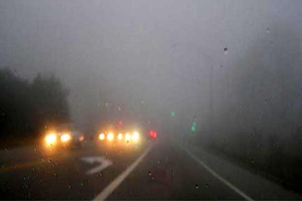 Намалена видливост поради магла на повеќе патни правци