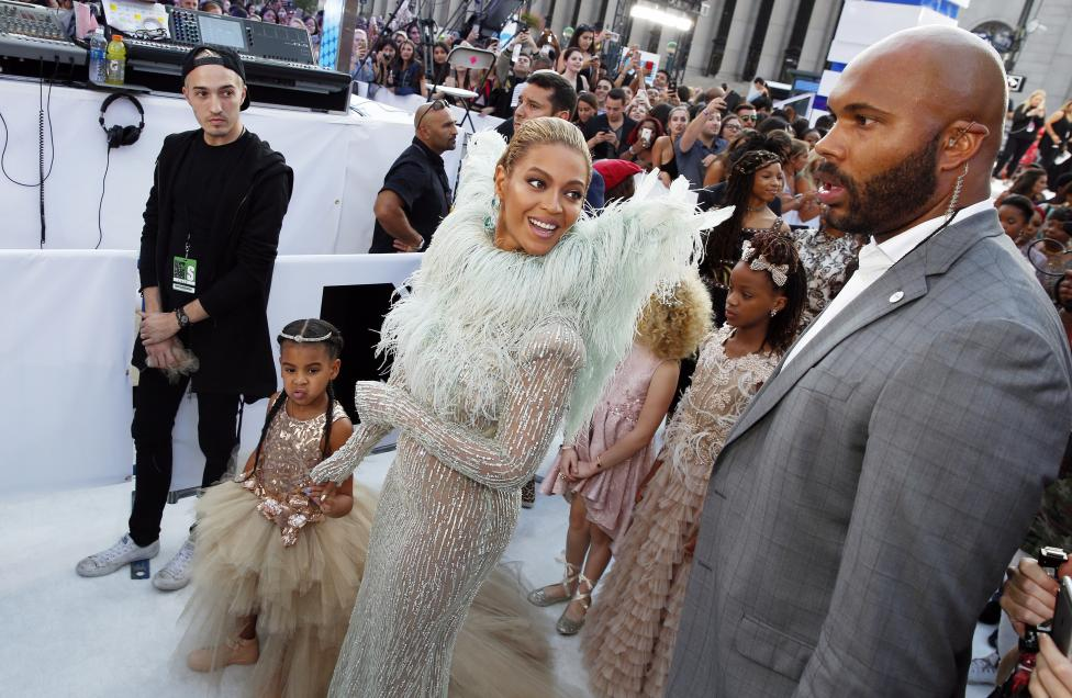 Beyonce arrives at the 2016 MTV Video Music Awards in New York