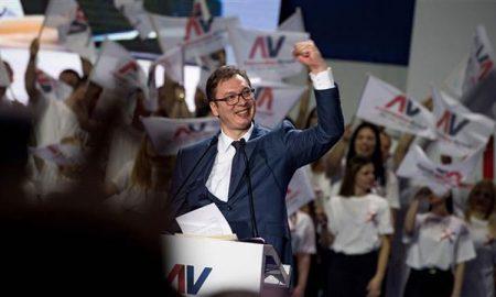 Александар Вучиќ избран за претседател на Србија