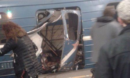 Најмалку десет лица загинаа при експлозија во Санкт Петербург