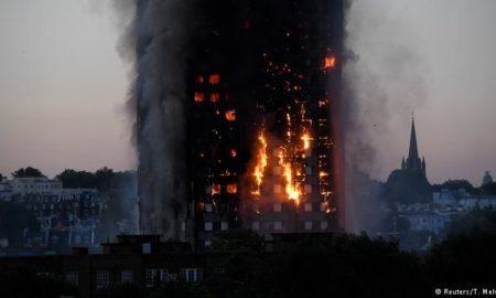 Шестмина загинати при пожар во станбена заграда во Лондон (ФОТО)