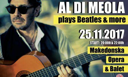 ВЕЧЕР НА ВИСТИНСКО УЖИВАЊЕ: Ал Ди Меола ќе ги свири Битлси во МОБ