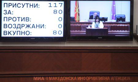 Со двотретинско мнозинство усвоен стартот на уставните измени за промена на името на државата