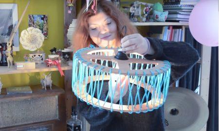 Подна лампа во облик на француско Макарон колаче